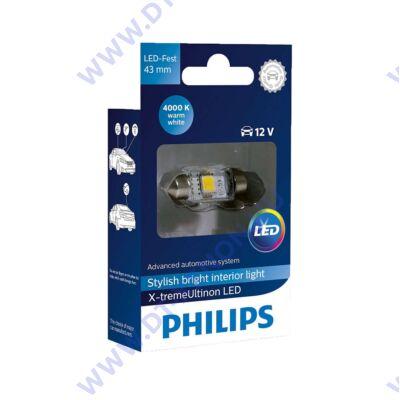 Philips C10W 43mm szofita X-tremeUltinon LED 4000K