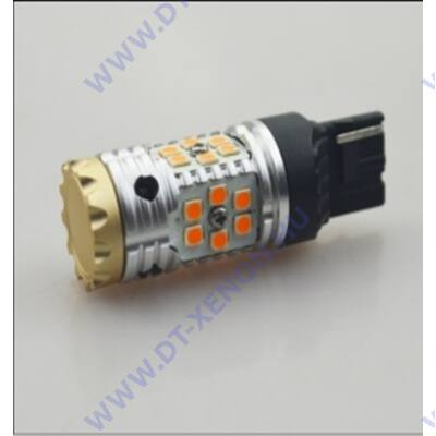 T20 (7440-WY21W) LED 24x3030SMD Epistar T2 (sárga) Can-Bus