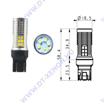 T20 7443 W21/5W LED 30x3030SMD Epistar (fehér) Can-Bus