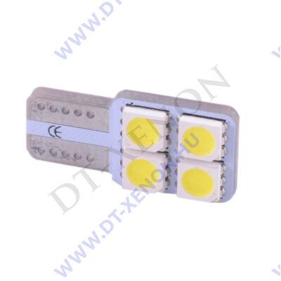 T10 (W5W) LED 4 SMD Can-Bus - egy oldalra világító