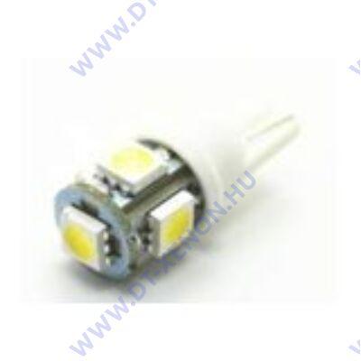 T10 (W5W) LED 5x5050 SMD (piros)