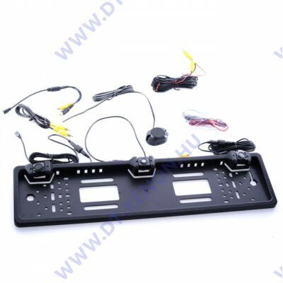 Einparts EPP033 rendszámkeretbe épített tolatókamera + tolatóradar készlet