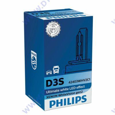 Philips D3S WhiteVision gen2 Xenon izzó 42403WHV2